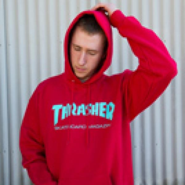 a9ebb512f253 Thrasher Magazine - Red Hoodie   Free Sunglasses