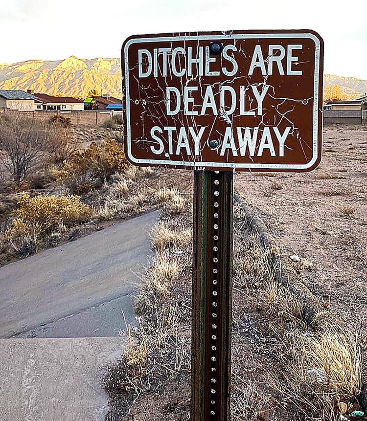 Ryan Maddox Ditch sign