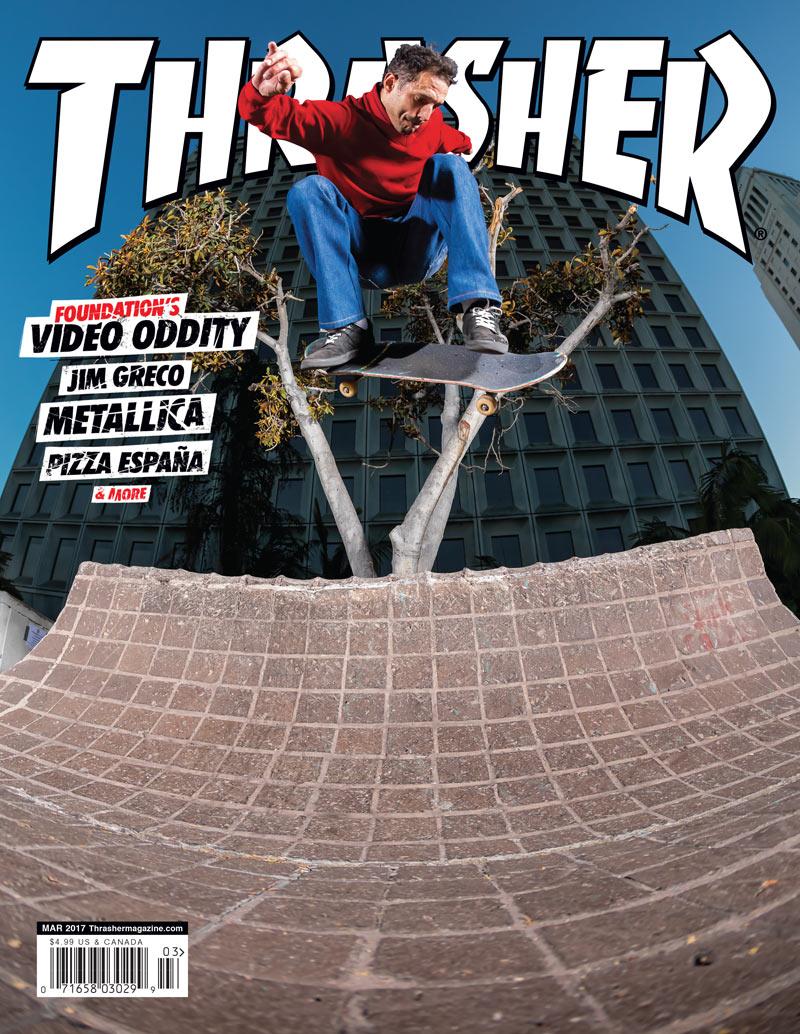 Skateboarding Zubehör Thrasher Skateboard Magazine Vintage 1990 March