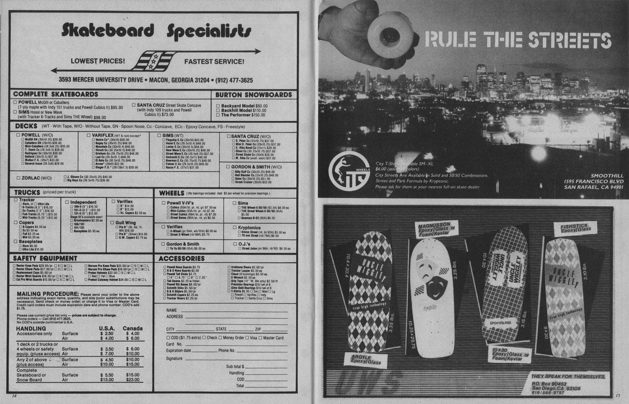 thrasher magazine december 1983