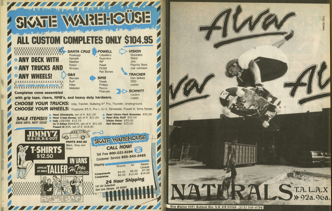 Alva Skateboards Ads