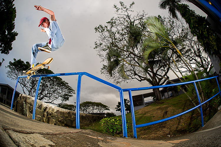 Johan Stuckey front shuv crook bump to rail Hawaii DZ 750px