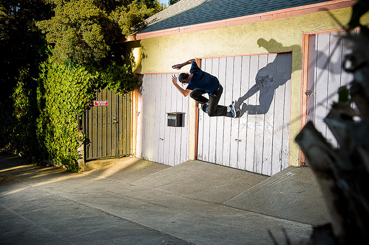 Johan Stuckey wallride ollie garage door SIlverlake DZ 750px