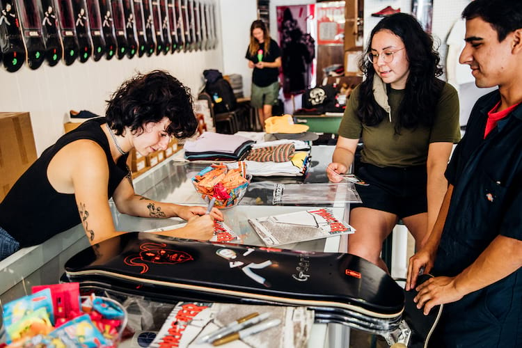 Breana Geering Pro Surprise Norma Ibarra Photos Thrasher Magazine 29 Breana Signing Boards at Anti Social