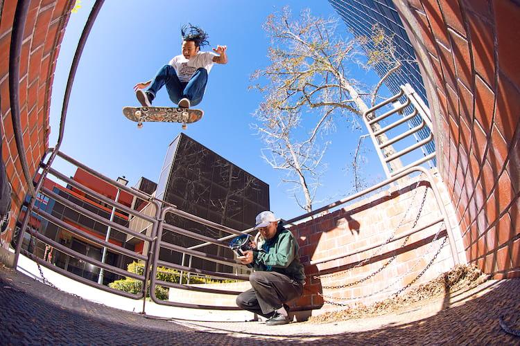 Thrasher Magazine Follow Up Julian L Backside flip T Aguilar