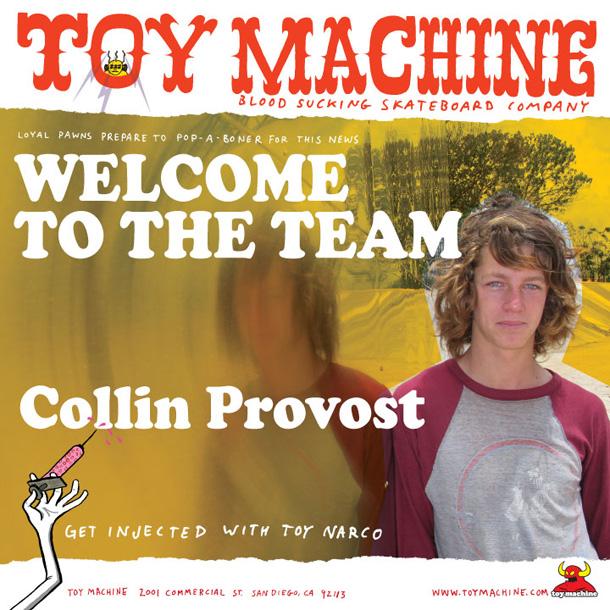 Colin Provost On Toy Machine ProvostLRG