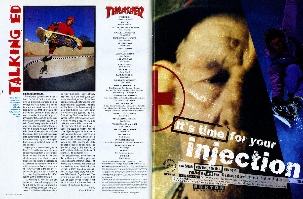 Thrasher Magazine - October 1991