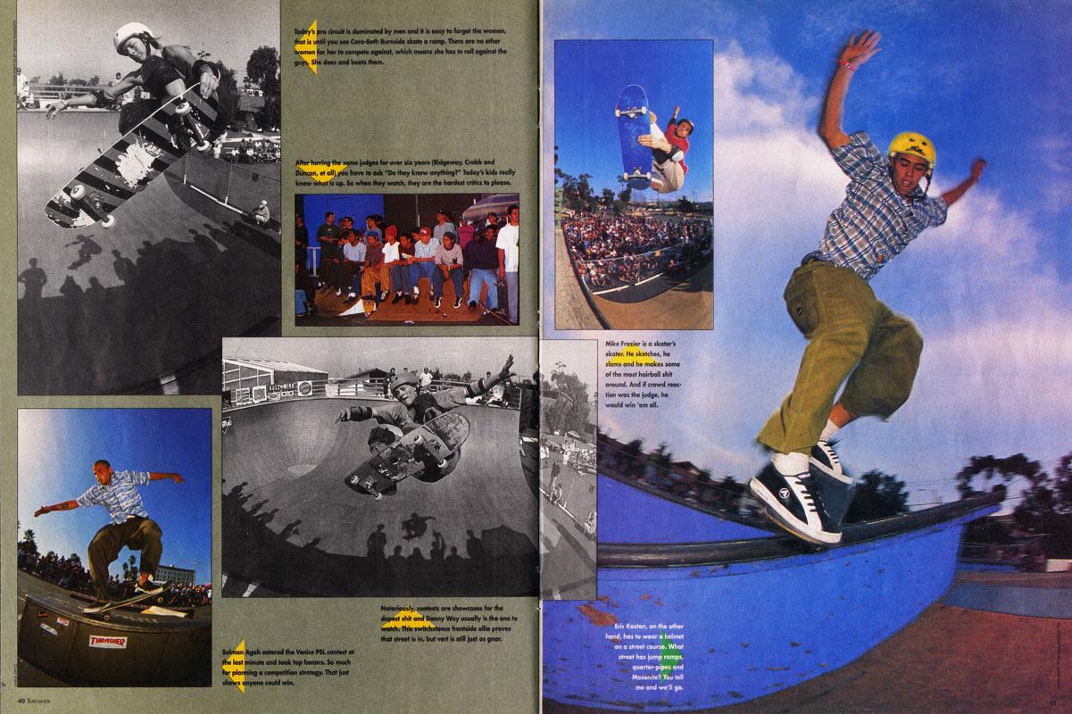 1992 Sports Illustrated Kids Si Sifk skate boarding CARA BETH BURNSIDE