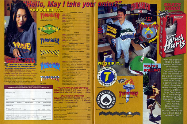 Thrasher magazine september 1993 for Santarossa components