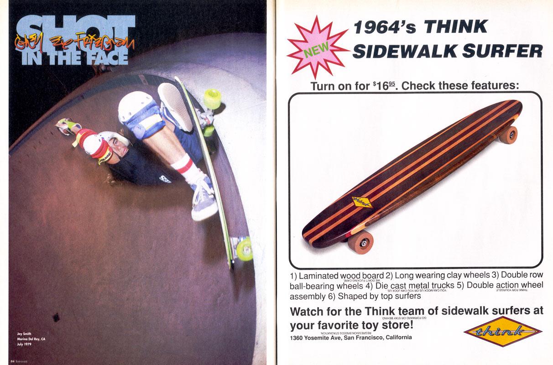 Jay Smith Skateboarder Jay Smith Think ad