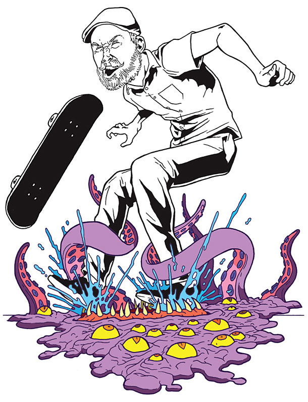 skateboarding comic strips