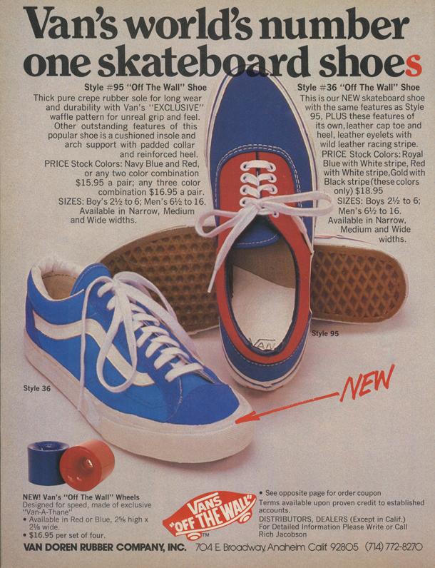 Thrasher Magazine - Wax the Coping: Classic Skate Vans