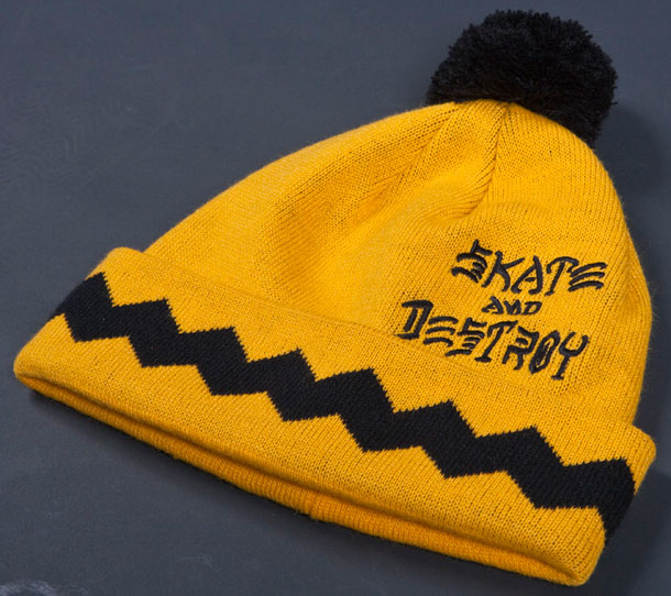 WTB  Thrasher - Gnarly Brown Beanie eeecfd22922