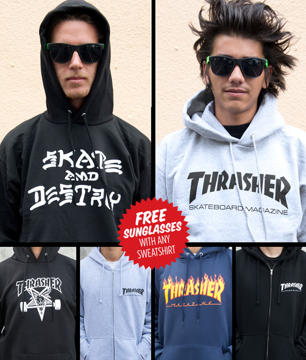 Thrasher Sunglasses  thrasher magazine free sunglasses with every sweatshirt