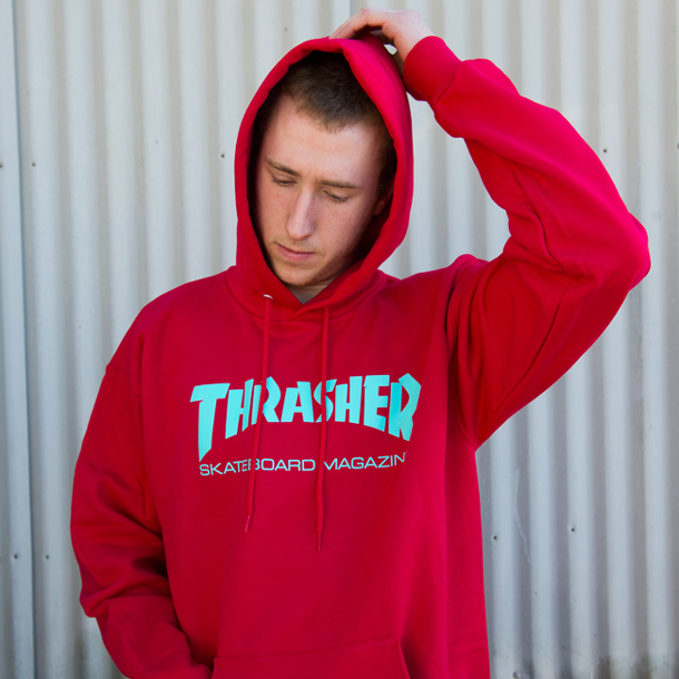 06ee079d8d1d Thrasher Magazine - Red Hoodie & Free Sunglasses