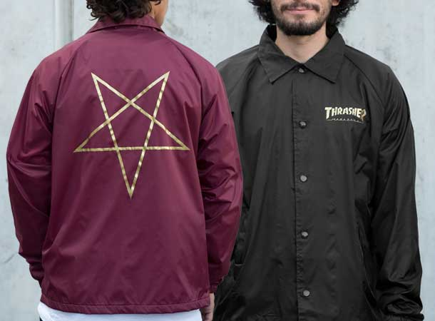 Pentagram Coach Jackets Ship For Free