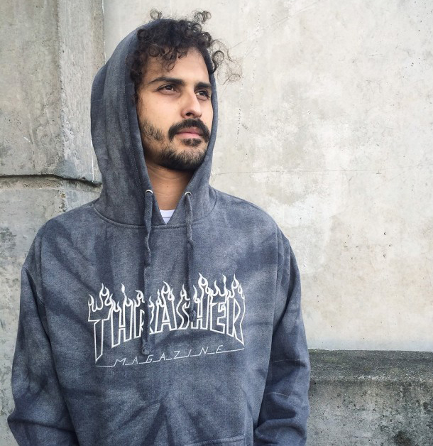 69b40546095f Thrasher Magazine - Silver Flame Logo Hoodie in the store