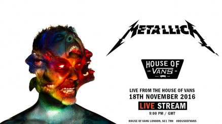 <span class='eventDate'>November 18, 2016</span><style>.eventDate {font-size:14px;color:rgb(150,150,150);font-weight:bold;}</style><br />Metallica: Hardwired at House of Vans