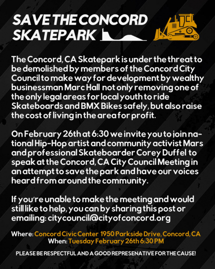 Save the Concord Skatepark