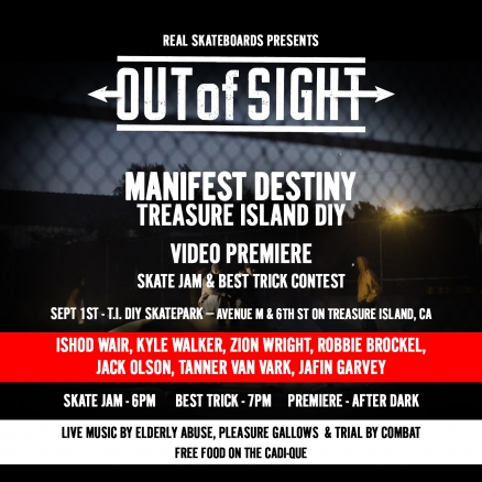 <span class='eventDate'>September 01, 2018</span><style>.eventDate {font-size:14px;color:rgb(150,150,150);font-weight:bold;}</style><br />Out of Sight: Manifest Destiny - Sept '18