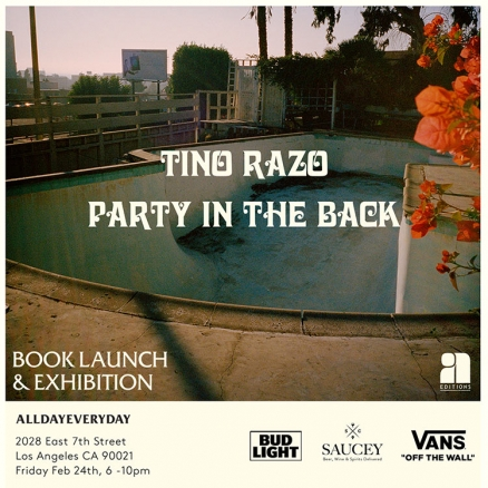 "<span class='eventDate'>February 24, 2017</span><style>.eventDate {font-size:14px;color:rgb(150,150,150);font-weight:bold;}</style><br />Tino Razo's ""Party in the Back"" Book"