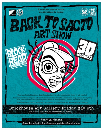 "<span class='eventDate'>May 06, 2016</span><style>.eventDate {font-size:14px;color:rgb(150,150,150);font-weight:bold;}</style><br />Blockhead's ""Back to Sacto"" Art Show"
