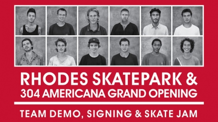 <span class='eventDate'>August 06, 2016</span><style>.eventDate {font-size:14px;color:rgb(150,150,150);font-weight:bold;}</style><br />Rhodes Skatepark Opening