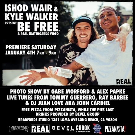 <span class='eventDate'>January 04, 2020</span><style>.eventDate {font-size:14px;color:rgb(150,150,150);font-weight:bold;}</style><br />Ishod Wair and Kyle Walker&#039;s &quot;BE FREE&quot; Premiere