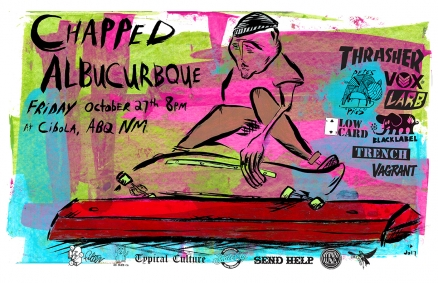 <span class='eventDate'>October 27, 2017</span><style>.eventDate {font-size:14px;color:rgb(150,150,150);font-weight:bold;}</style><br />CHAPPED presents the AlbuCURBque