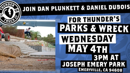 <span class='eventDate'>May 04, 2016</span><style>.eventDate {font-size:14px;color:rgb(150,150,150);font-weight:bold;}</style><br />Parks & Wreck Dan Plunkett
