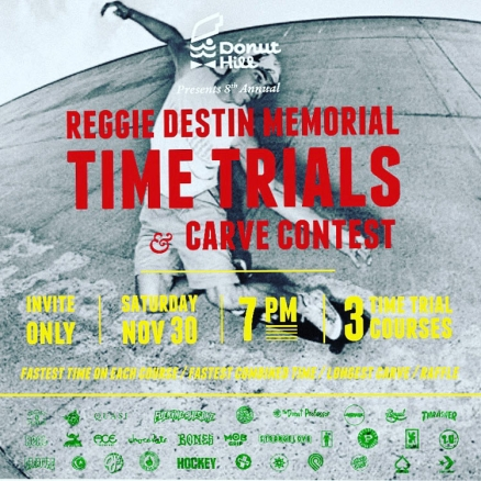 <span class='eventDate'>November 30, 2019</span><style>.eventDate {font-size:14px;color:rgb(150,150,150);font-weight:bold;}</style><br />Reggie Destin Memorial Time Trials 2019