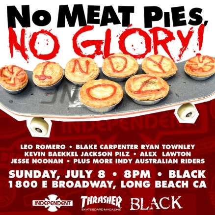 <span class='eventDate'>July 08, 2018</span><style>.eventDate {font-size:14px;color:rgb(150,150,150);font-weight:bold;}</style><br />Indy&#039;s &quot;No Meat Pies, No Glory&quot; Video Premiere