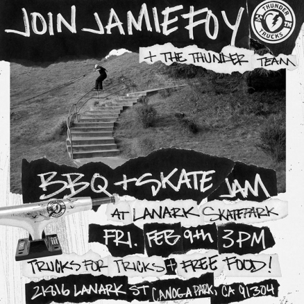 Jamie Foy BBQ and Skate Jam