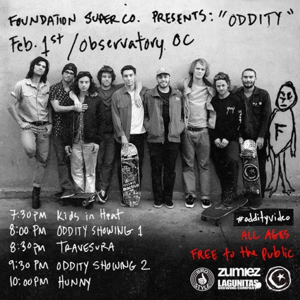 "<span class='eventDate'>February 01, 2017</span><style>.eventDate {font-size:14px;color:rgb(150,150,150);font-weight:bold;}</style><br />Foundation's ""Oddity"" Premiere"