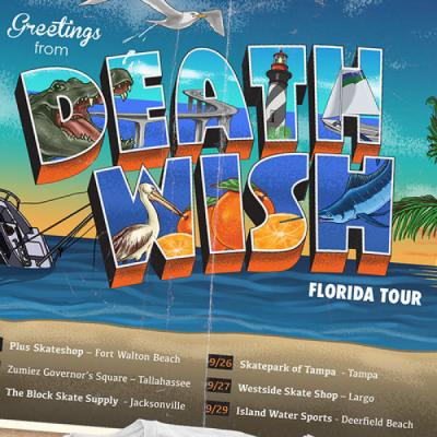 <span class='eventDate'>September 21, 2018 - September 29, 2018</span><style>.eventDate {font-size:14px;color:rgb(150,150,150);font-weight:bold;}</style><br />Deathwish Florida Tour