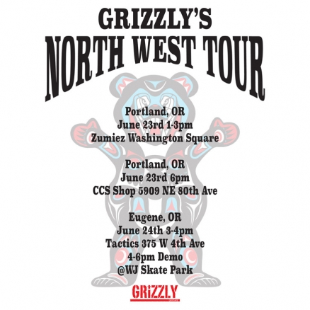 <span class='eventDate'>June 23, 2018 - June 24, 2018</span><style>.eventDate {font-size:14px;color:rgb(150,150,150);font-weight:bold;}</style><br />Grizzly&#039;s North West Tour