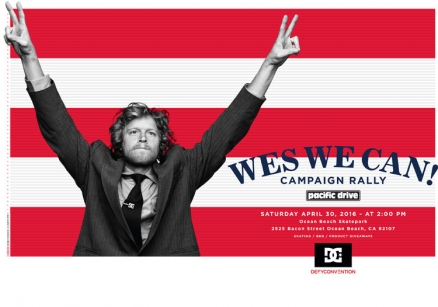 <span class='eventDate'>April 30, 2016</span><style>.eventDate {font-size:14px;color:rgb(150,150,150);font-weight:bold;}</style><br />Wes We Can! Campaign Rally