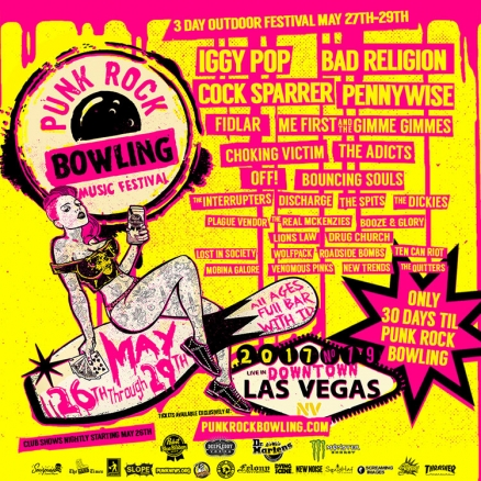 <span class='eventDate'>May 27, 2017 - May 29, 2017</span><style>.eventDate {font-size:14px;color:rgb(150,150,150);font-weight:bold;}</style><br />Punk Rock Bowling 2017