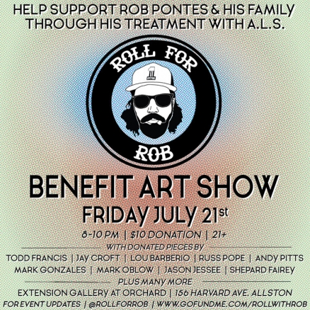 """Roll for Rob"" Benefit Art Show and Skate Jam"