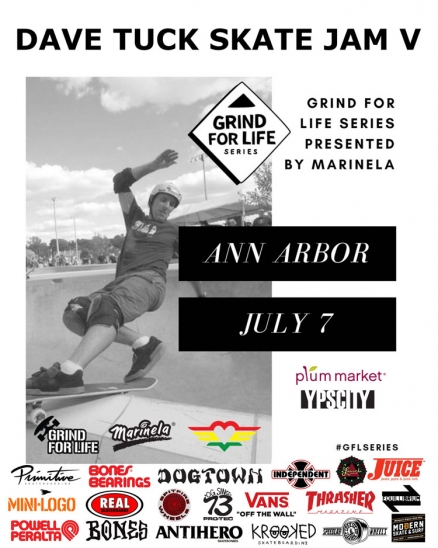 <span class='eventDate'>July 07, 2018</span><style>.eventDate {font-size:14px;color:rgb(150,150,150);font-weight:bold;}</style><br />Dave Tuck Skate Jam V
