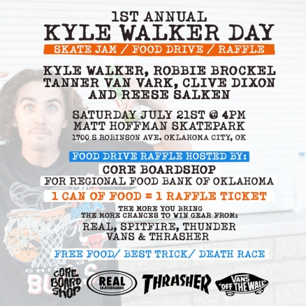 <span class='eventDate'>July 21, 2018</span><style>.eventDate {font-size:14px;color:rgb(150,150,150);font-weight:bold;}</style><br />1st Annual Kyle Walker Day