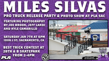 <span class='eventDate'>January 07, 2017</span><style>.eventDate {font-size:14px;color:rgb(150,150,150);font-weight:bold;}</style><br />Miles Silvas Pro Truck Release Party