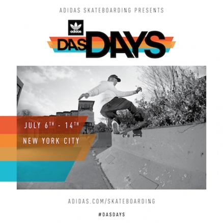 <span class='eventDate'>July 06, 2018 - July 14, 2018</span><style>.eventDate {font-size:14px;color:rgb(150,150,150);font-weight:bold;}</style><br />adidas Das Days New York City